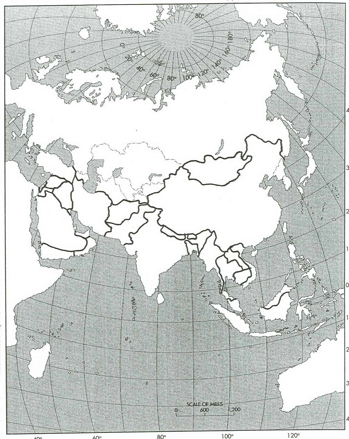 Blank Map Of Europe - Outline map of eastern us
