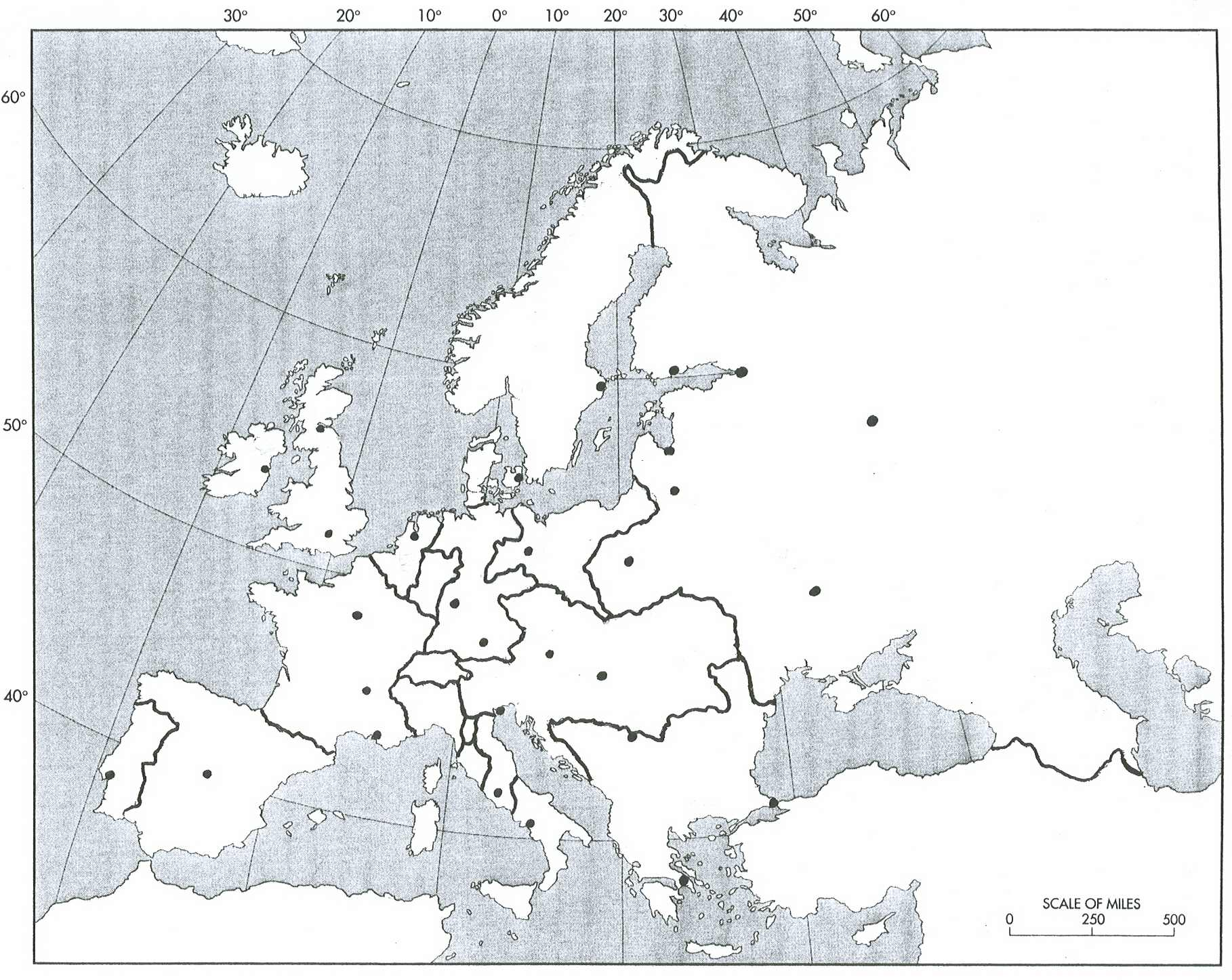maps blank map of europe 2008