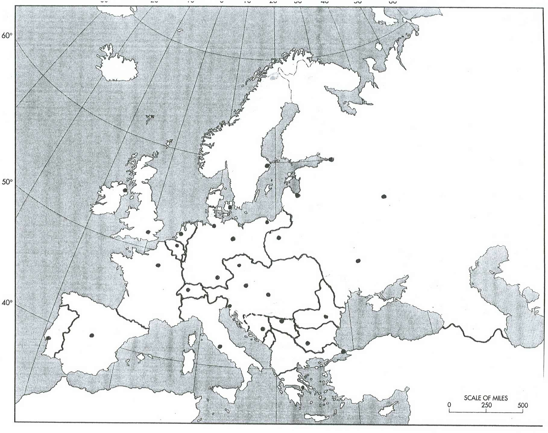 Blank Map Of Europe Wwi Thefreebiedepot - Europe world war1 map 1914