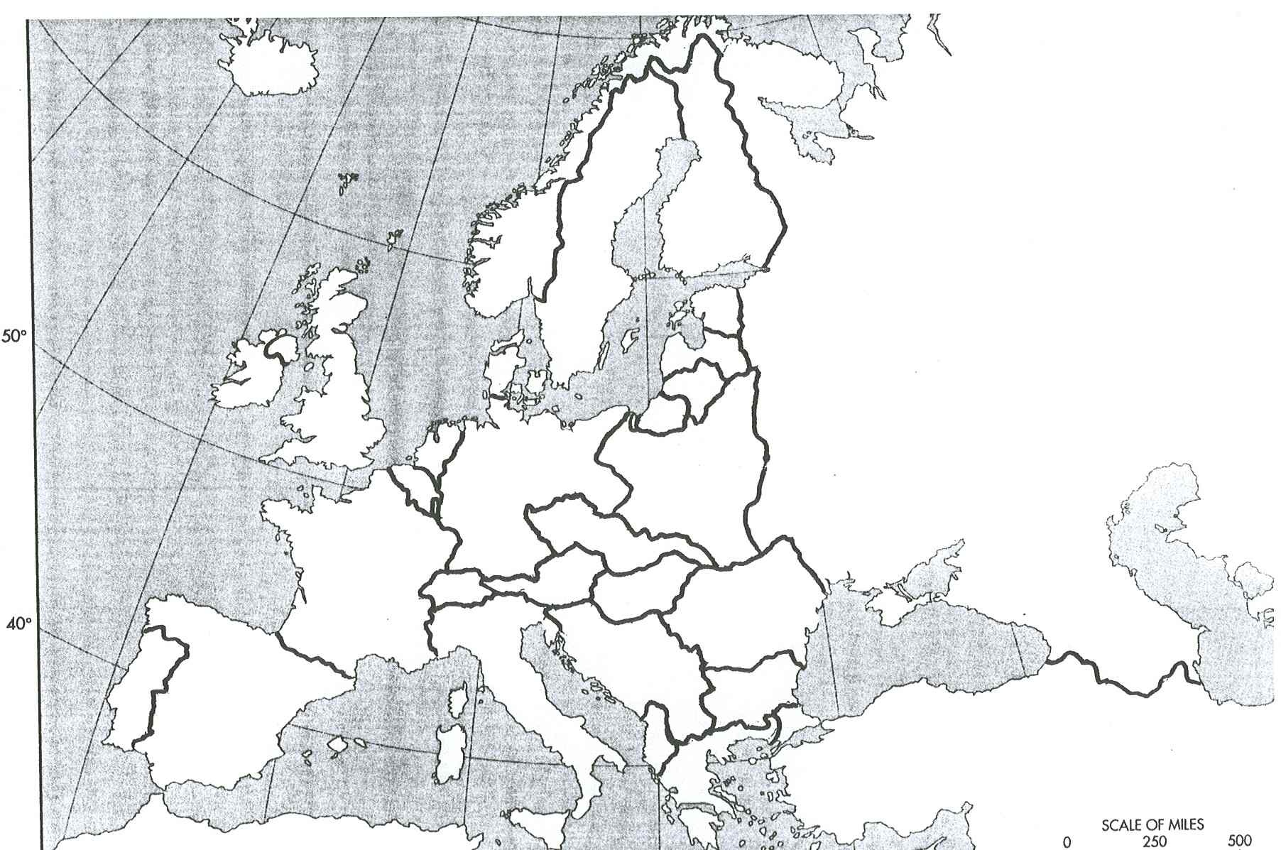 Blank Map Of Europe In 1900