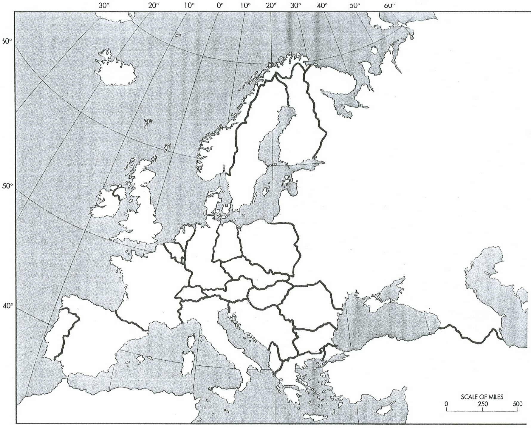 Map Of Europe 1950s.History 464 Europe Since 1914 Unlv