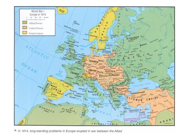History Europe Since UNLV - Europe map 1871 1914