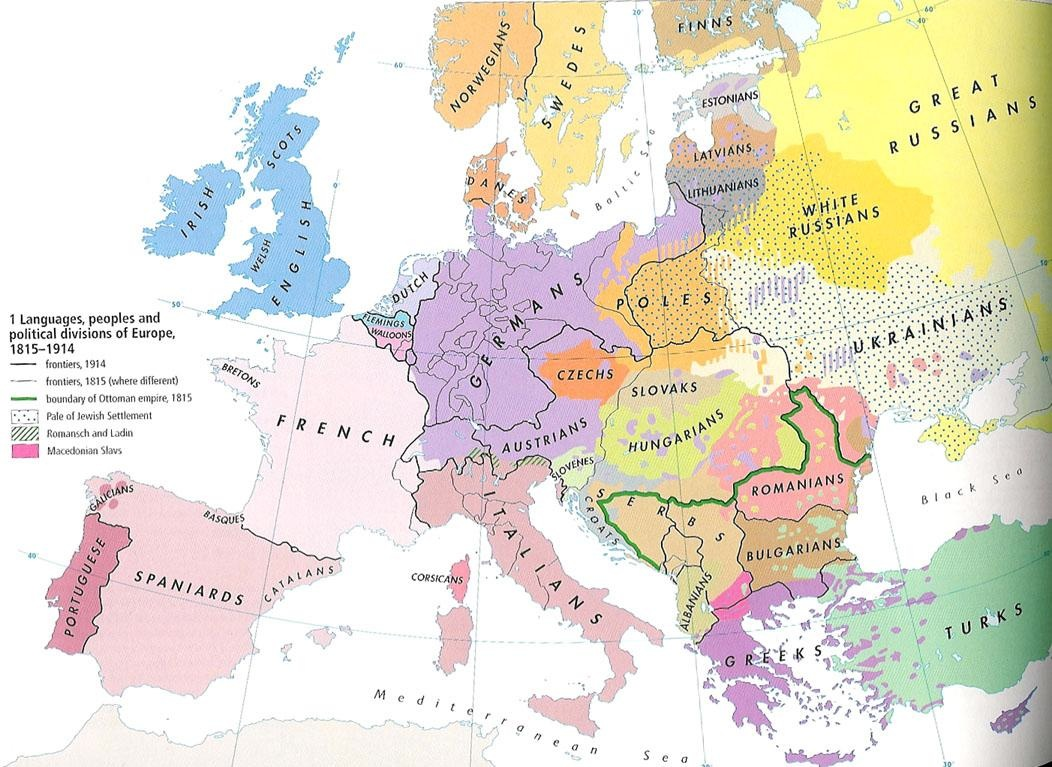 Map Of Europe In 1871.History 464 Europe Since 1914 Unlv